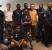 Ugandan visitors at UNH; Bill Maddocks in Center